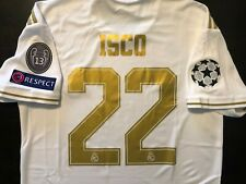 ISCO Real Madrid Soccer Home Jersey Medium #22 Champions League 2019/20