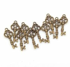 10/50/200pcs Vintage Antique Silver Bronze Key Charms Pendant for Jewerly Making