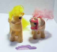 Lot of 2 Vintage My Little Pony Figures G1 So Soft Flocked Lofty & Sundance