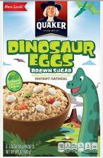 Quaker Dinosaur Eggs Oatmeal Brown Sugar Instant Hot Cereal Breakfast Snack