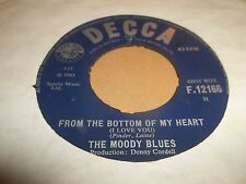 """THE MOODY BLUES """" FROM THE BOTTOM OF MY HEART """" 7"""" SINGLE VG DECCA 1965"""