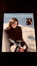JESSICA ANDREWS ACM TOP NEW FEMALE VOCALIST RARE ORIGINAL PRINT PROMO POSTER AD