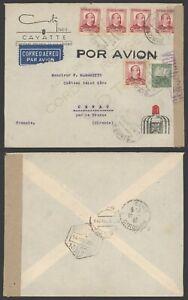 Spain Civil War 1938 - Air Mail Cover Madrid to France - Censor R469