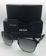 New PRADA Sunglasses SPR 61S 1BO-3M1 55-21 Black & Gunmetal Frame w/ Grey Fade