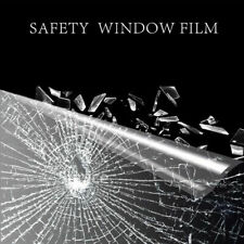 Safety Security Window Film 100 MicronSEC 04 Anti Shatter Clear Glass Protection