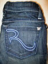 "Rock & Republic Maternity ""Tyler"" Jeans Stretch Womens Eradic Blue Size 23  New"