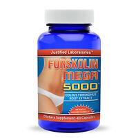 Pure Forskolin Mega 20% Coleus Forskohlii Root Extract All Natural Fat Burner