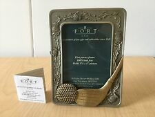 """FORT USA GIFT PEWTER Golf Club Picture Frame - Holds 3.5""""x5"""" Pict"""