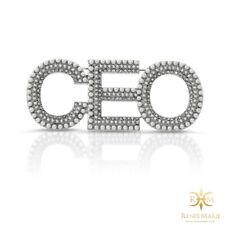 CEO CoCo Pearl Rhinestone Brooch Women's Lapel Pin