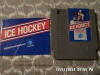 Ice Hockey: Nintendo NES Game w/ Instruction Manual