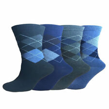 24 pairs designer job lot men`s cotton Lycra COLOR Argyle Design 6-11 socks