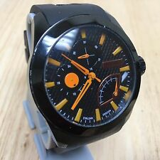 Haurex Italy Men Unique Design Analog Quartz Watch Hour~Day Date 24h~New Battery