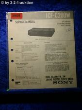 Sony Service Manual ICF C200W Clock Radio (#3908)