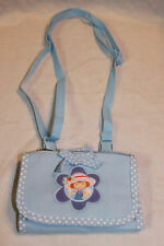"NEW WITH TAGS STRAWBERRY SHORTCAKE BLUE STRAP COIN WALLET  3-1/2"" X 5"""