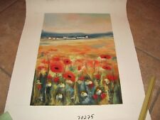 "Romero Jocquera  ""Poppies""  Original oil on Canvas   #RJ0100DSS   Retail $5000"