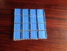 "1""x1"" Crystal Glass Tile Mosaic:blue  - 4""x4""sample size"