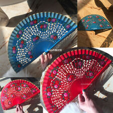 Hand Painted Spanish Style Wood Fans Custom Dance Fans Wedding Show Gift