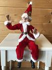 "RAZ Imports 19"" Posable Santa Elf Candy Cane Red White Christmas NEW 4002222"
