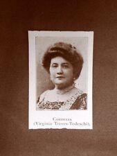 Stampa del 1923 Cordelia o Virginia Tedeschi Rivista Illustrazione Italiana