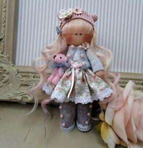Rag doll handmade in the UK Tilda doll Ooak doll Cloth doll HARMONY 6 inch tall