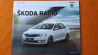 Skoda Rapid S SE Sport L car brochure sales catalogue November 2016 MINT