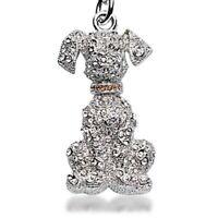 Labrador Retriever Swarovski Crystal Keychain Stainless Steel Inlaid Crystals