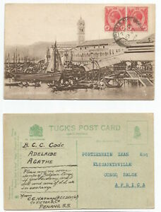 MALAYA PENANG 1922 PC Victoria Pier, Penang  sent BELGIAN CONGO @8c rate