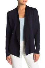 NEW Eileen Fisher Open Front Waterfall Cardigan in Navy- Size S #S815