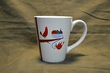 Starbucks Holiday Coffee Mug White with Beautiful Red Birds to Enjoy !     2011