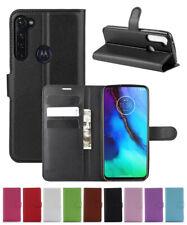 Leather slot wallet stand flip Cover Skin Case For Motorola MOTO G STYLUS