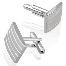 Pair Silver Pure Metal Cufflinks Cuff Links Mens Dress SE F4k7 O2m8