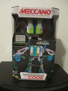 engineering Meccano Erector Micronoid Code Zapp Programmable Robot Building Kit