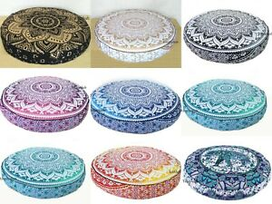 10 Pcs Wholesale Lots Indian Ombre Mandala Floor Cushion Covers Home Decorative