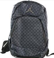 NIKE JORDAN JUMPMAN BACKPACK BLACK SILVER LAPTOP STORAGE 9A1115-023 BRAND NEW