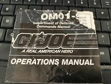Hasbro gi joe manual 12: OM02- 93  SNAKE EYES