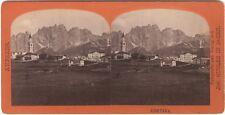 Cortina d'Ampezzo Italie Italia Photo Stereo Vintage Albumine ca 1865