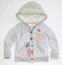 NEXT GIRL'S 3-4 YRS 104 Cm HAPPY CAT 'TODAY IS A LOVELY DAY' HOODY JACKET