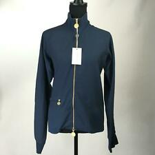 NWT PATRIZIA PEPE LOVE SPORT Navy Blue Pullover Jacket Full Zip Womens Size L 46