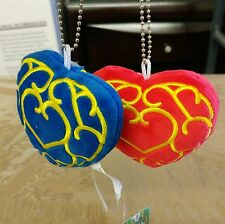 Legend of Zelda Blue and Red Hearts Keychain 3 in Soft Plush Lot of 2 CHARITY