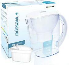 Wessper Wasserfilter AquaMax inkl. 1 Filterkartusche, kompatibel mit Brita Maxtr