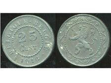 BELGIQUE 25 centimes 1916  zinc