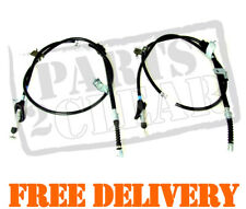 ROVER 400 45 1995-2006 2 x REAR HAND BRAKE CABLES 414 416 420 HATCHBACK SALOON