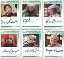 Star Trek TNG Complete  (2012): 2x Autograph Cards  freie Auswahl