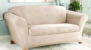 NEW! Sure Fit Stretch Suede - Loveseat Slipcover - Taupe SF35544 LOWEST PRICE!