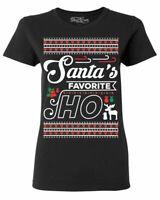 Santa's Favorite Ho Women's T-Shirt Funny Xmas Ugly Christmas Shirts