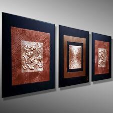 MALEREI BILDER KUPFER Metall KUNST Original HANDGEMALT Gemälde C. GOETHE 120x40