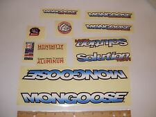 Nos Oem Mongoose Solution Team Old Mid School Complete Decal Sticker Set Bmx