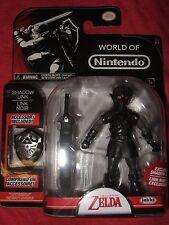 """The Legend Of Zelda Shadow Link 4"""" Figure Shield & Sword Jakks Pacific Nintendo"""
