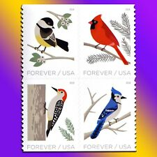 20 Winter Christmas Birds Forever Stamps Cardinal Woodpecker Chickadee Blue Jay