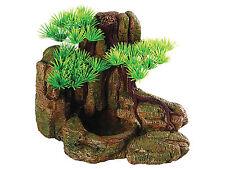 Bonsai Árbol & Rock alimentador Reptil Vivero, paisaje Plato de comida de Terrario Ornamento